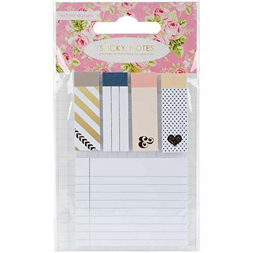 Websters Pages PA100 Color Crush Planner Sticky Notepad Accents 5//Pkg-,