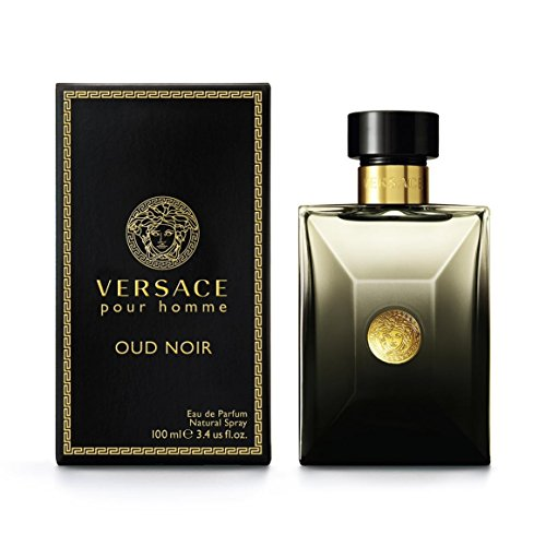 Versace OUD Noir Eau De Parfum Spray, 3.4 Ounce Homme Eau De Parfum Spray