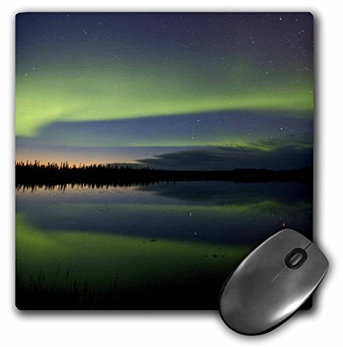 - 3dRose LLC 8 x 8 x 0.25 Alaska Arctic Circle Bettles Northern Lights Jaynes Gallery Mouse Pad (mp_87406_1)