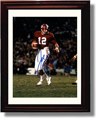 Joe Namath Photo (Framed Alabama Football Joe Namath Autograph Photo Print)