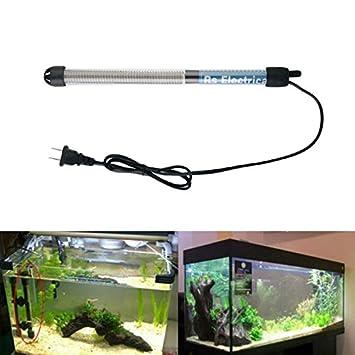 Calentador sumergible resistente para acuario, cristal, pecera, ajuste de temperatura