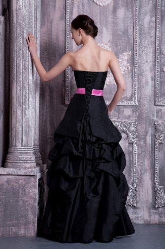 Neue Schwarz mit BRIDE Schleife traegerlosen schwarze Ballkleid GEORGE elegante rosa Agqw1x5