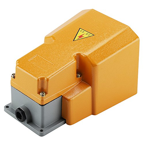 250V 10A Pedal Foot Switch,Acogedor Aluminum Alloy Oil Resistant Corrosion-Resistant Heavy Duty Foot Switch with Guard by Acogedor (Image #1)