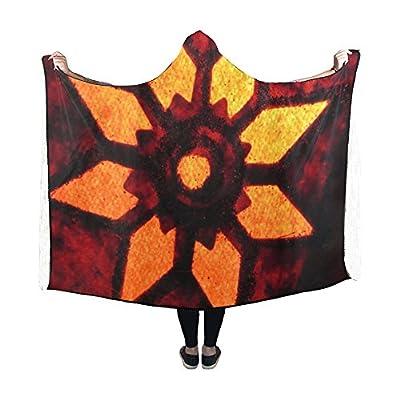 Jnseff Hooded Blanket Lighting Star Seem Red Reddish Yellowish Blanket 60x50 Inch Comfotable Hooded Throw Wrap