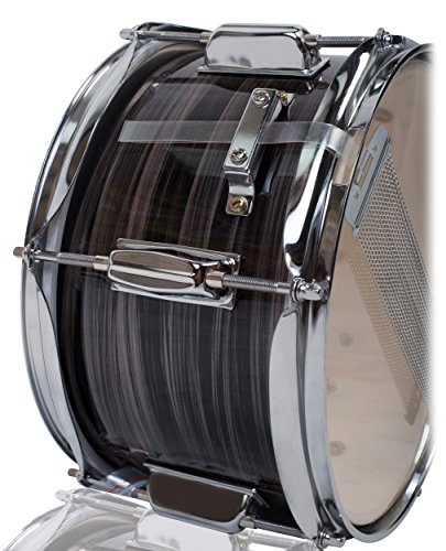 Popcorn Snare Drum by Griffin | Firecracker 10'' x 6'' Poplar Shell with Zebra Wood PVC|Soprano Concert Percussion Musical Instrument with Drummers Key and Deluxe Snare Strainer|Beginner & Professional by Griffin (Image #2)