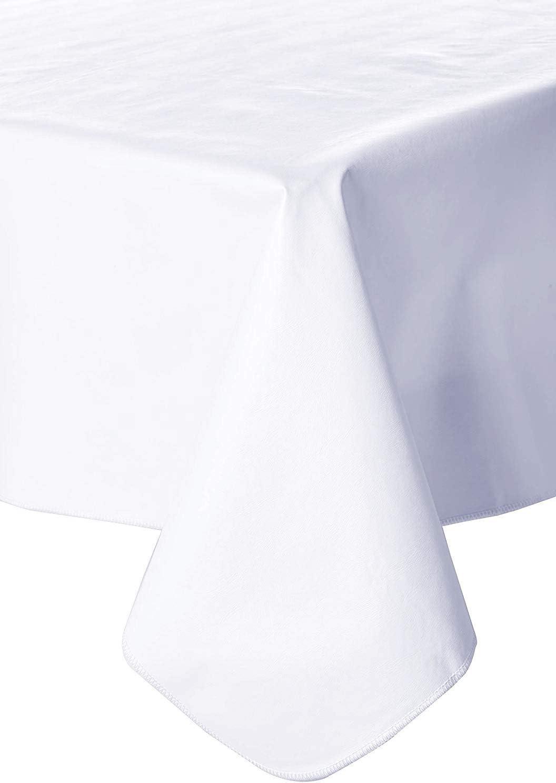 Galaxy Heavyweight Vinyl Tablecloth 60 Inch Round White Kitchen Dining Amazon Com
