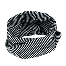 FEITONG New Infant Toddlers Baby Kids Boys Girls Scarf Colors Stitching O-ring Knit Woolen Baby Scarf Neck Warmer (Black)