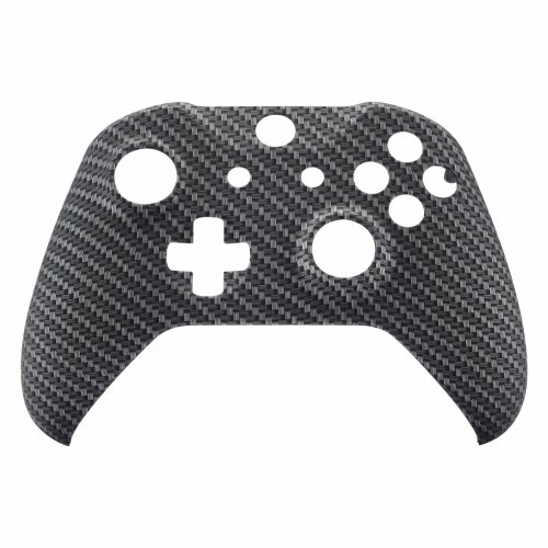 ModFreakz® Front Shell Hydro Dipped Black and Silver Carbon Fiber For Xbox One Model 1708 Controllers