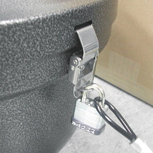 (Smokers' Oasis Lock Kit, 48in Plastic-Coated Steel Cable w/Lock/Key)