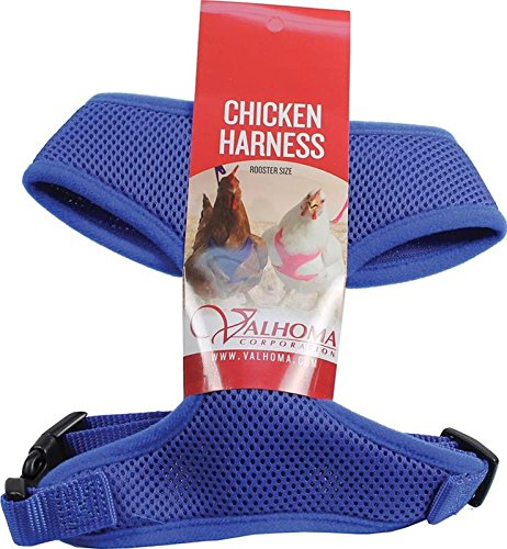 VALHOMA 756 M C BL 625478 Mesh Chicken Harness, Blue, Rooster