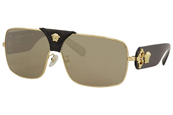 Amazon.com: Gafas de sol Versace VE 2207 QA 1002/5 GOLD ...