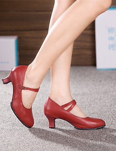 ShangYi Non Customizable Womens Dance Shoes Modern Leather Cuban Heel More Colors Black