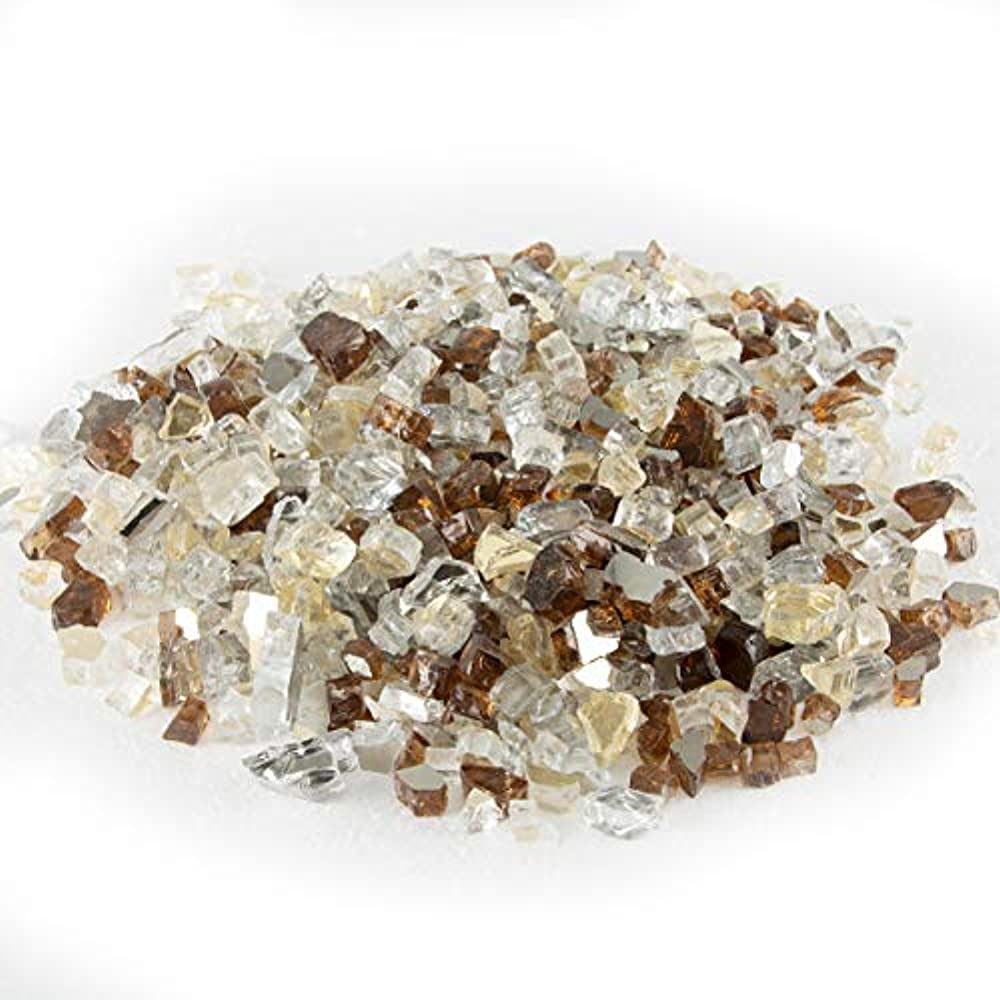 Stanbroil 10-Pound 1//2 Fire Glass Blended Gold,Platinum,Copper Refective for Indoor and Outdoor Gas Fire Pits and Fireplaces