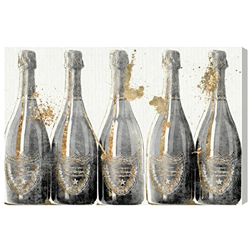 Spirit Canvas Art - Dom Marbles by Oliver Gal | Modern Premium Canvas Art Print. The Drinks and Spirits Wall Art Decor Collection. 24x16 inch, Gold