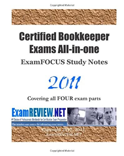 certified bookkeeper exams all in one examfocus study notes 2011 rh amazon com Pharmacy Technician Certification Nursing Certification