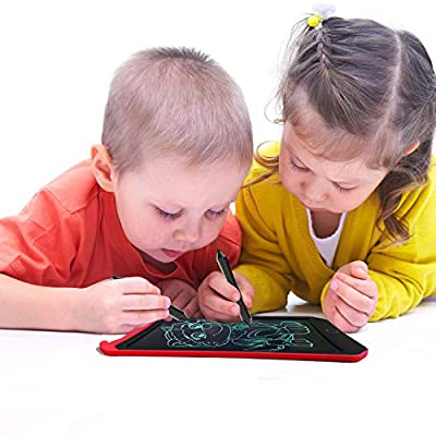 JRD&BS WINL LCD Writing Tablet for Birthday Gift,Kids Toy 8.5 In Writing Board Electronic Writings Pads Drawing Board Gifts for Kids,Office Blackboard-One Key Erase,Teen Girl Boys Sketch Pads(Red D01): Office Products