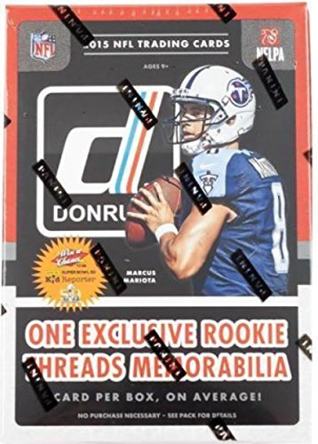 2015 Donruss NFL Football Retail Blaster Box 56 Cards 7 Packs With 8 Cards. Each Box Includes 1 Rookie Threads Memorabilia Relic Card