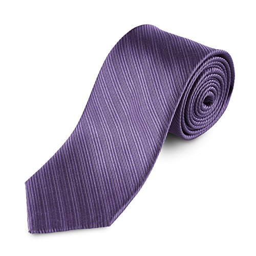 Lantier Designs Men's Classic 100% Silk Textured Necktie, 3'', Purple