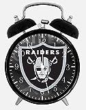 Raiders Alarm Desk Clock 3.75'' Home or Office Decor E438 Nice For Gift