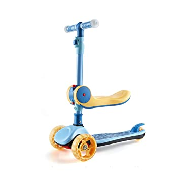 Amazon.com: Scooter Kick - Patinete plegable con asiento ...