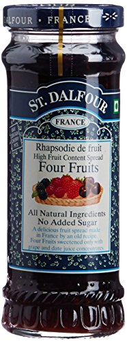 St Dalfour Fruit Preserve, Four Fruit, 284grams