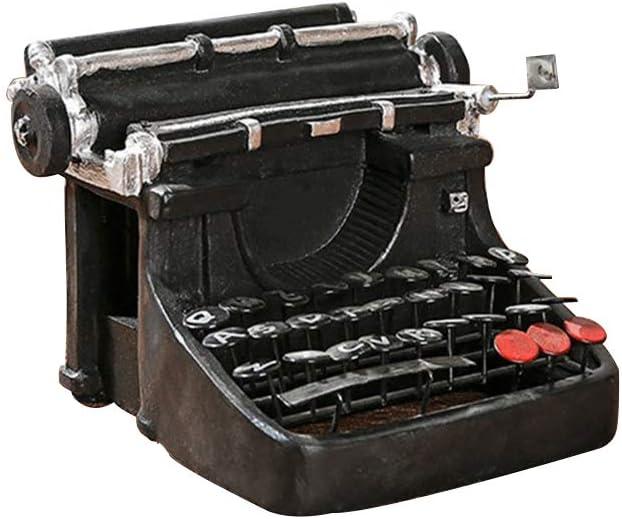 SUPVOX Vintage Dollhouse Miniatures Furniture Retro Handicrafts Typewriter Model Ornament for Office Home