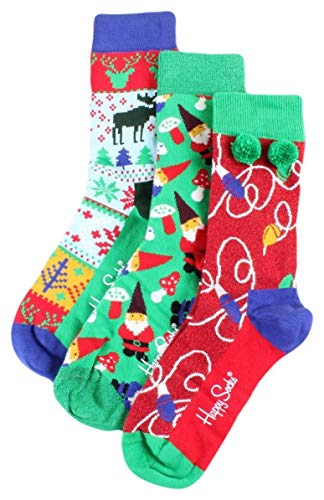 Happy Socks - Colorful Limited Edition Holiday Cotton Socks for Men and Women (Holiday Gift Box, 41-46)