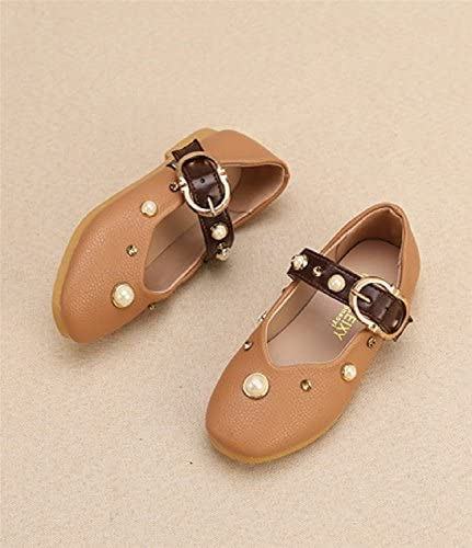 Ausom 2017 Girls Lastest Autumn Leather Diamond Princess Lovely Casual Square Toe Toddler Nude Shoes