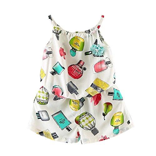 [해외]Botrong 유행 유아 어린이 복장 비치 티셔츠 블라우스 + 꽃 짧은 바지 1Set/Botrong Fashion Toddler Kids Girls Outfit Clothes Beach T-shirt Blouse +