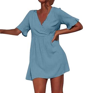 Mosstars Vestidos Mujer Casual Verano Corto Moda Mujer ...