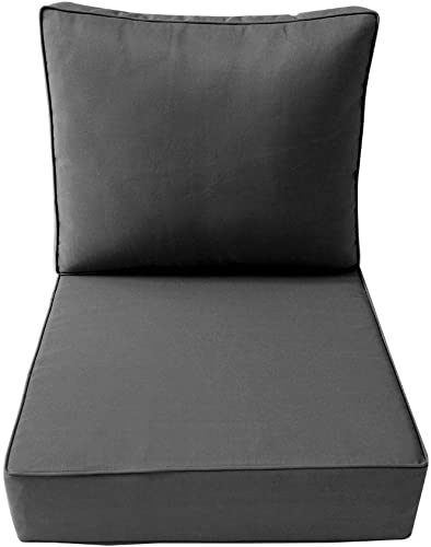 DBM IMPORTS AD003 Piped Trim Medium 24x26x6 Deep Seat Back Slip Cover Only Outdoor Polyester