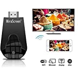 Wireless Display Adapter, MiraScreen 1080P Wireless HDMI Dongle Support Airplay(iOS) Miracast(Android) DLNA