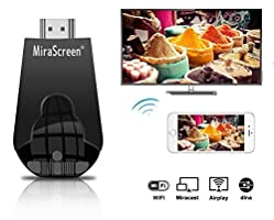 MiraScreen Wireless Display Adapter, 1080P Wireless HDMI Dongle Support Airplay(iOS) Miracast(Android) DLNA