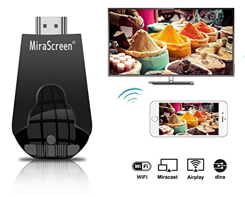 Wireless Display Adapter, MiraScreen 1080P Wireless HDMI Dongle Support Airplay(iOS) Miracast(Android) DLNA by MiraScreen