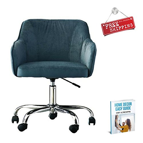 Writing Desk Chair Adjustable Computer Desk Chair Blue Rolling Office Arm Chair Swivel & eBook by AllTim3Shopping by Ats