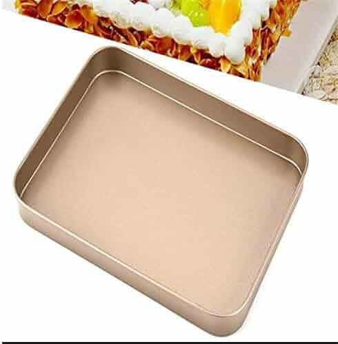 Gold 10 inch rectangular baking tray Carbon steel cake mold baking tray Baking utensils,gold