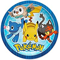 American Greetings Pokémon 8 Count Dinner Large Round...