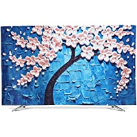 XIMIXILYQ Indoor TV Cover 32-65 Inches Dust-Proof Waterproof Soft Silk Cloth Protector for LED/LCD Television (43, Blue)