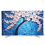 XIMIXILYQ Indoor TV Cover 32-65 Inches Dust-Proof Waterproof Soft Silk Cloth Protector for LED/LCD Television (55'', Blue)
