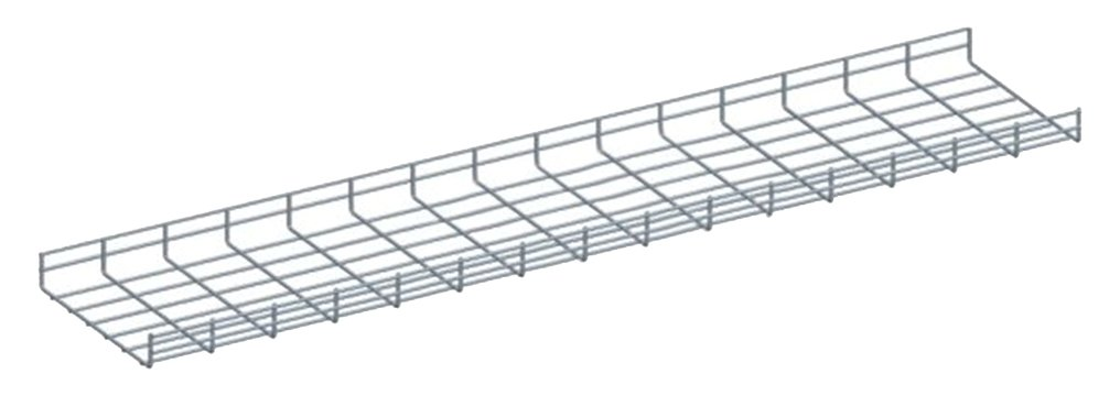 Quest Manufacturing Wire Mesh Cable Tray, 5' x 12''W x 2''H, Zinc (CT0512-03)