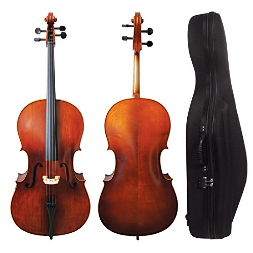 VALE 3/4 Size Handmade Solid Cello with Shell Case and Bow