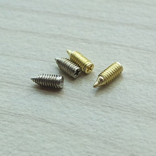 25 Pcs Belt Tip Buckle Replacement Screw Nickle For Sewing Leather Craft Zipper Swivel ()