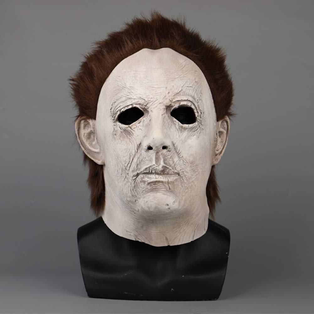 Hope Film Halloween Mike Mel Maschera di Halloween Smorfia Orrore Lattice Maschera a Pieno facciale Cosplay Maschere mascherate in Maschera,B-OneDimensione