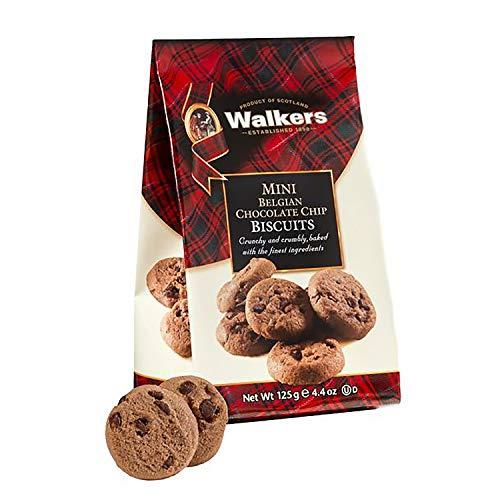 Walkers Shortbread Mini Belgian Chocolate Cookies, Chocolate Chocolate Chip Cookies, 4.4 Ounce Bags (12 Bags) ()