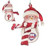 Scottish Christmas Philadelphia Phillies Home Run Snowman Ornament Set of 3