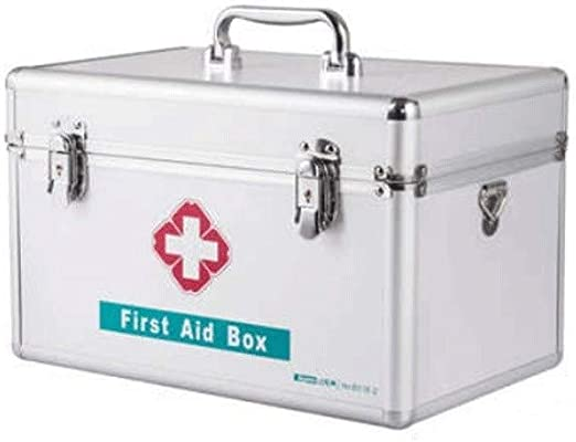 Kensd Extra Grande Hogar Botiquín de primeros auxilios multifuncional caja de la medicina Medicina del organizador del almacenaje con asa de transporte Llevar Bares tira de aluminio Sistema ABS platea: Amazon.es: Hogar