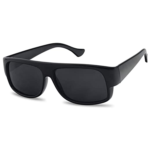 019fc7cab7 SunglassUP Original OG Classic Flat Top Eazy E Super Dark Limo Tint  Sunglasses (Black)