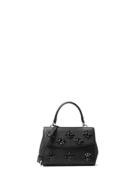 53ed0944ca8975 MICHAEL Michael Kors Ava Extra Small Crystal Leather Crossbody Bag - Black:  Amazon.ca: Shoes & Handbags