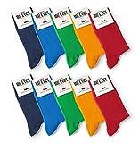 10 Pack European Classic Dress Cotton Trouser Crew Socks Mat & Vic's Fun Colors S