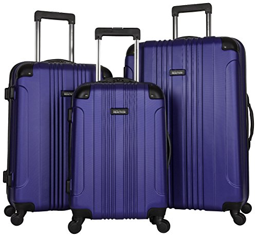 Kenneth Cole Reaction Out of Bounds Luggage 4-Wheel Abs 3-Piece Nested Set: 20'' Carry-on, 24'' 28'' Upright, Cobalt Blue by Kenneth Cole REACTION